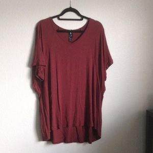 Burgundy Love Tunic by Agnes & Dora